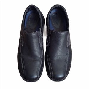 Dockers black slip on casual leather loafers